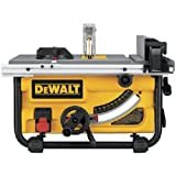 DEWALT DWE7480 10-Inch Compact Job Site Table Saw with Site-Pro Modular Guarding System, Yellow/Black/Silver Without Stand