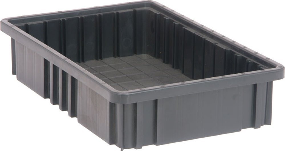 Quantum Storage Systems DG92035CO Dividable Grid Container 16-1/2-Inch Long by 10-7/8-Inch Wide by 3-1/2-Inch High, Black Conductive, 12-Pack