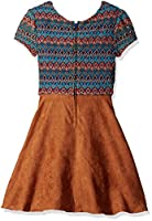 Amy Byer Big Girls' Multi Lace Dress wit...