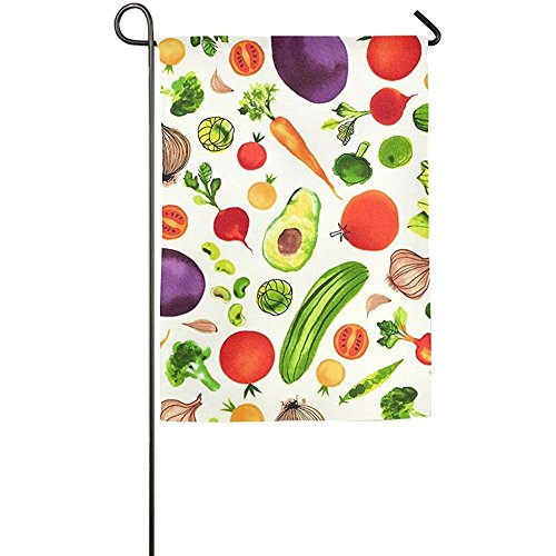 Starutahzz Fluttering Vegetables Fruits Funny Patio Yard House Garden Flags 12 X 18 All-Weather Polyester (This My Halloween Welcome To Halloween Party)