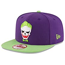 DC Comics Suicide Squad Joker Embroidered Face Snapback Baseball Cap
