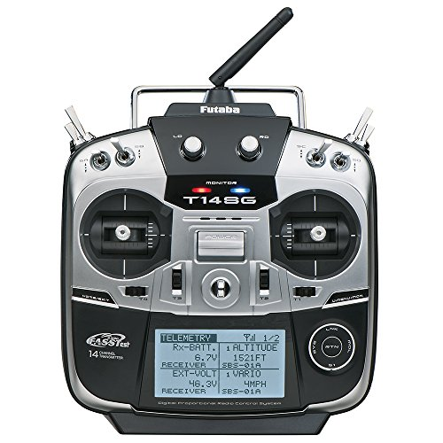 Futaba 14SGA Fourteen-Channel Two-Point-Four Gigahertz Computerized Radio Control Flight Transmitter with R7008SB…