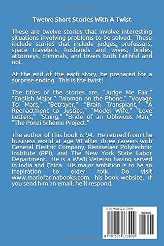 Twelve Short Stories With A Twist: Mario V  Farina: 9781521173909