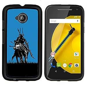 TECHCASE---Cubierta de la caja de protección para la piel dura ** Motorola Moto E ( 2nd Generation ) ** --Samurai en Campos