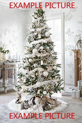 FeatherStore.com CHRISTMAS SPECIAL: White Marabou Boa with Gold Lurex to enhance the look of your Centerpiece Tree DIY