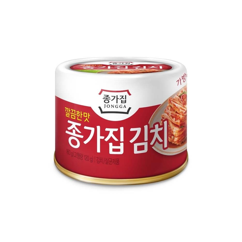 [JONGGA] Cabbage Kimchi Can 5.64oz(160g) / Canned Kimchi / Korean Spicy Food / count (36)