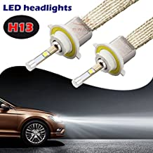 SWEON 2Pcs 80W H13 4800LM Cree Bulbs Car LED Headlight Conversion Kit Xenon White 6000K Lamp H1 H3 H4 H7 H11 9004 9005 9006 9007 9012