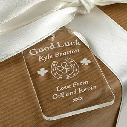Good Luck Gift Tag Good Luck Gift Ideas Good Luck In Your Exams Four Leaved Clover Good Luck Gift