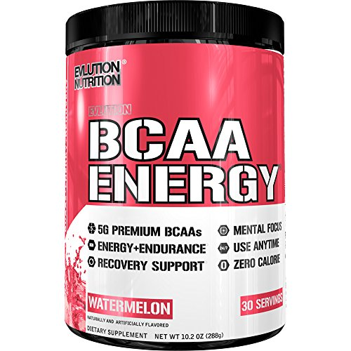 Evlution Nutrition BCAA Energy - High Performance, Energizing Amino Acid Supplement for Muscle Building, Recovery, and Endurance (30 Servings) Watermelon