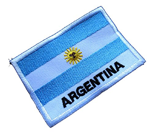 Argentina Argentine Republic National Flag Sew on Patch Free ()
