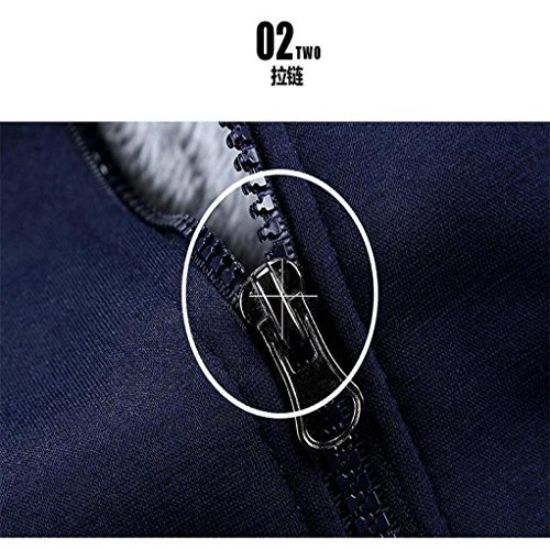 Miklan Winter Men's Winter M-4XL Big & Tall Coat Jacket (XXXL, Blue) by Miklan (Image #1)