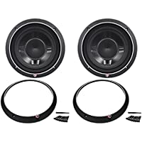Rockford Fosgate P3sd210 10 Inch Punch P3 Dual 2 Ohm Voice Coil Shallow Subwoofer with 600 Watts Peak / 300 Watts RMS