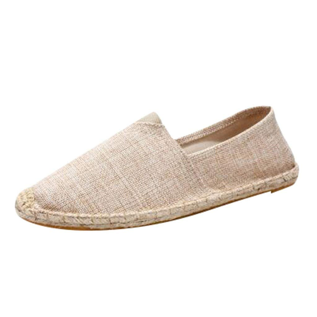 VESNIBA Couple Durable Casual Loafers Men and Women Fashion Non-Slip Flat Sandals Canvas Shoes Khaki by VESNIBA LLC (Image #1)