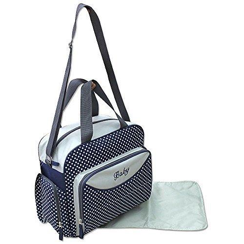 GMH 3 piezas bolsa de pañales cambiantes bolsa de pañales del bolso de bebé en color Negro Azul 2140