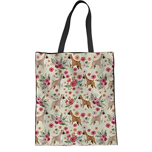 Ladies Bag Yoga Boxer IDEA Hipster HUGS Tote Beach Casual Shoulder Linen Terrier Handbags Bag Boston xqYHHpwPX