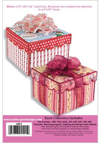 Anita Goodesign Keepsake Crazy Quilt Box