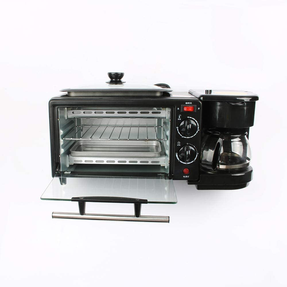 3 in 1 Electric Breakfast Machine 220V Toaster Oven Home Coffee Maker Pizza Egg Tart Oven Frying Pan Bread Maker