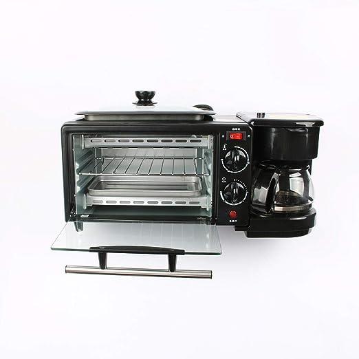 Máquina de desayuno eléctrica 3 en 1 220V Horno tostador Cafetera ...