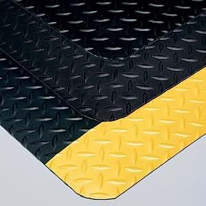Wearwell Diamond-Plate Select Anti-Fatigue And Safety Mat - 4'W - Custom Cut Length - Black - 16
