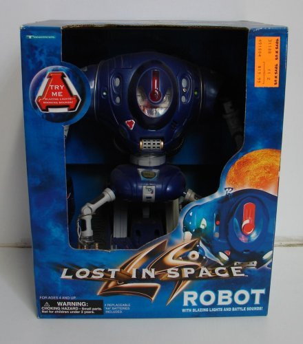 Used, Lost in Space Robot with Blazing Lights and Battles for sale  Delivered anywhere in USA