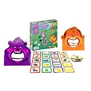 Chalk and Chuckles Hungry Four, (3-7 Years) Preschool Memory Cooperative Game, Educational and Movement Activity for Kids