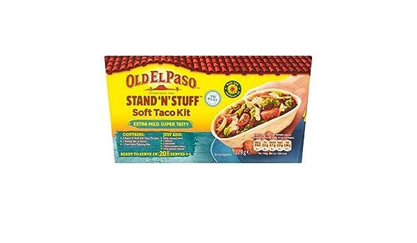 Old El Paso Stand N Stuff Soft Taco Kit Extra Mild 329g by Old El Paso: Amazon.es: Bebé