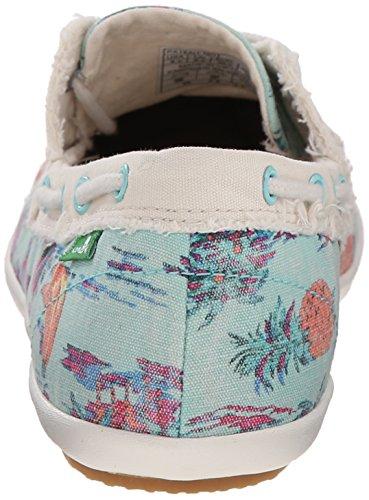 Sanuk Womens Sailaway 2 Vacay Boat Shoe Turquoise Pineapple