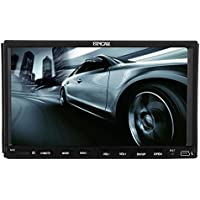 2 DIN Car Autoradio DVD CD Radio Player GPS Navigation Bluetooth Headunit Stereo FM AM Receiver with 7 Inch Capacitive Touchscreen In Dash Audio USB SD Music MP3 iPod