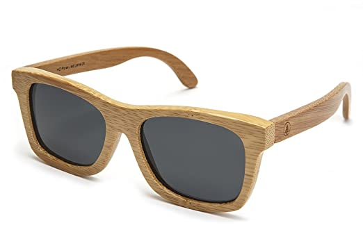 bamboo wood sunglasses with polarized lenses and handmade frames wayfarer natural style for men and