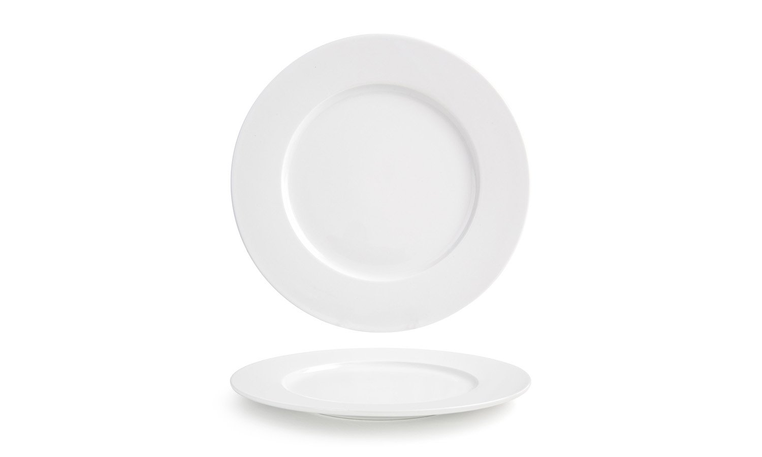 Front of the House DDP027WHP12 Monaco Round Plate, 11'' Diameter, Porcelain (Pack of 6)