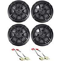 Kicker 6.5 Front+Rear Speaker Replacement Kit For 1993-1995 Jeep Grand Cherokee