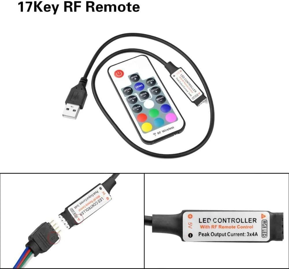 Mini USB Bluetooth//WiFi RGB LED Controller Remote Control 5V 5050 3528 Lic T3U1