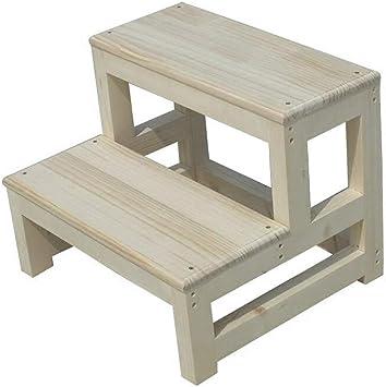 AINIYF Taburete con escalera Taburete de madera maciza de alta resistencia Taburete con escalera Taburete doble de uso múltiple con escalera (Size : 50cm): Amazon.es: Bricolaje y herramientas
