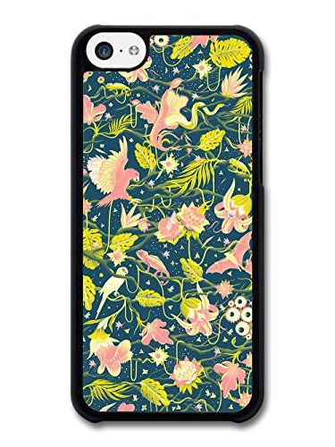 Grunge Tropical Bird Design with Cool Floral Print case for iPhone 5C