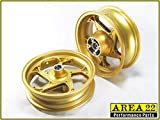 Area 22 2014/2015 Honda MSX125 Grom Type 1 Custom Wide Mag Wheels Rims (Gold)