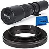 Ultimaxx 500mm f/8 Multi-Coated Telephoto Lens Kit Nikon D7200 D7100 D7000 D5500 D5300 D5200 D5100 D5000 D3300 D3200 D3100 D3000 D700 D600 D500 D90 D80 D70 D60 D50 Other Nikon DSLR Cameras