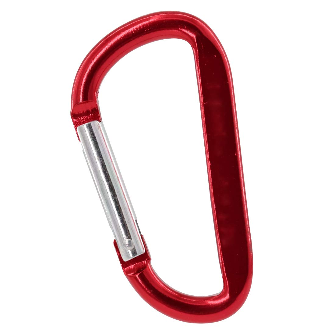 Gisdanchz 48 x 24mm Mini Small Aluminum Alloy D-Shaped Carabiner Clip, Hiking Camping Fishing Easy Keychain Holder for Backpack