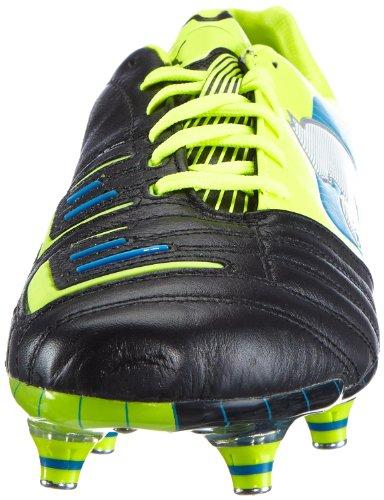 Puma PowerCat 1 SG 102779 - Zapatillas de fútbol de cuero para hombre Negro (Schwarz (black-fluo yellow-white-brilliant blue 03))