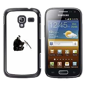 Caucho caso de Shell duro de la cubierta de accesorios de protección BY RAYDREAMMM - Samsung Galaxy Ace 2 - Samurai japonés