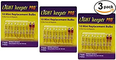 30 Mini Replacement Bulbs (3 packs of 10): Incandescent Bulbs for Christmas Holiday Light Strings [Indoor/Outdoor]