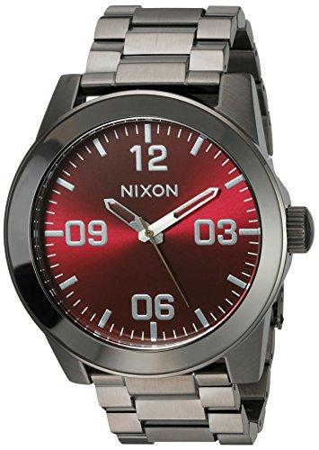 Nixon Men's A3462073-00 Corporal SS Analog Display Japanese Quartz Silver Watch ()
