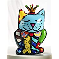 "Limited Edition Romero Britto Cat Figurine ""Royalty Cat"""