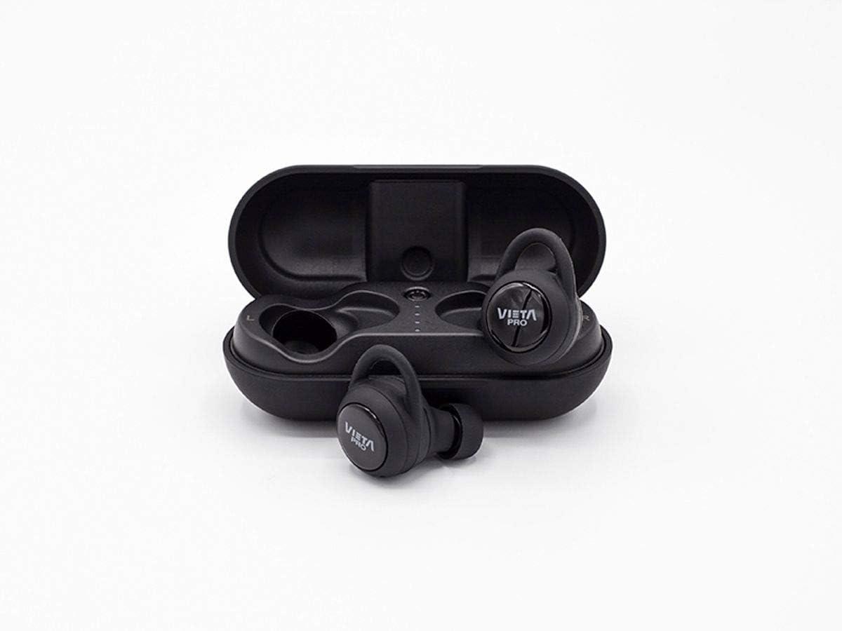 Vieta Pro VHP-TW20BK - Auricular Bluetooth 5.0, con función manos libres, resistencia al agua ipx7, 18 horas de batería y acceso al asistente de voz, Negro
