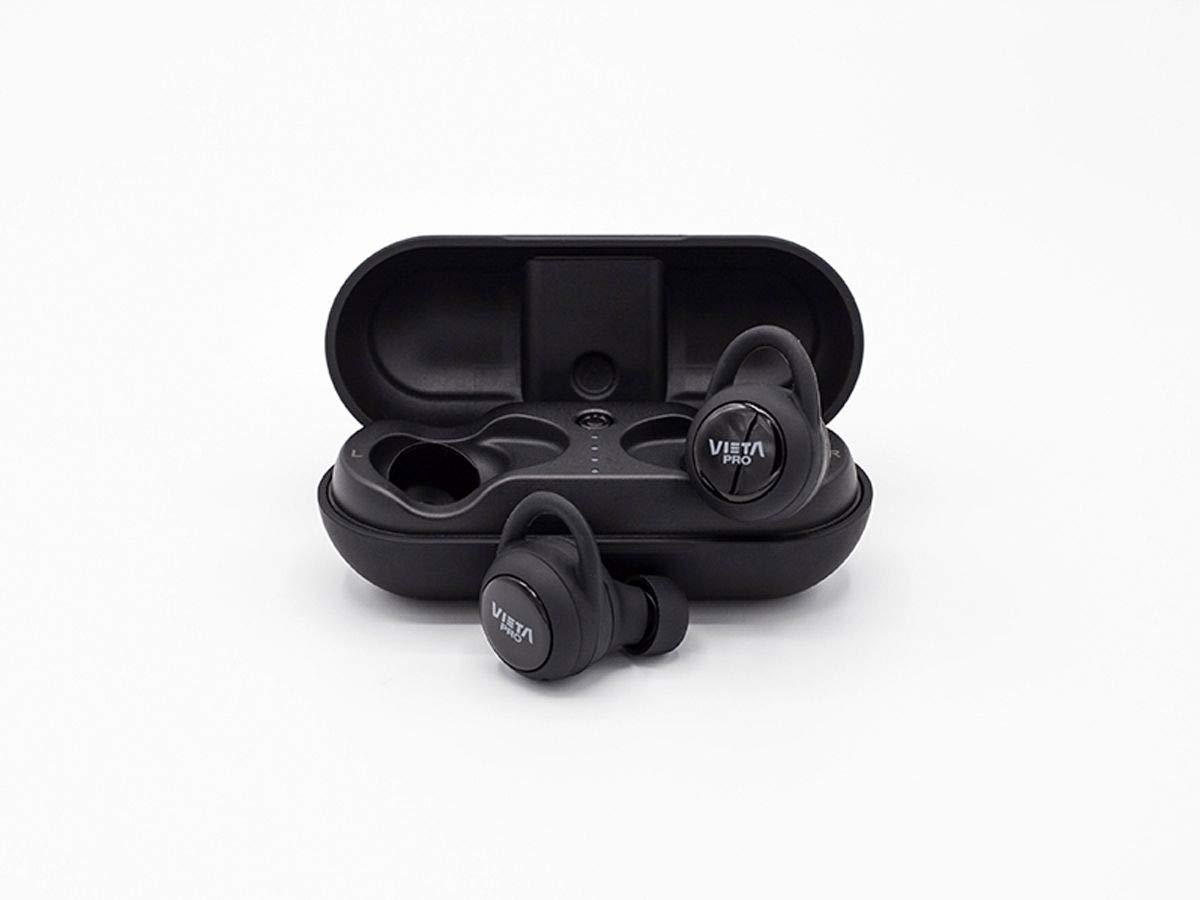 Vieta Pro VHP-TW20BK - Auricular Bluetooth 5.0, con función manos libres, resistencia al agua ipx7, 7,5 horas de batería y acceso al asistente de voz, ...