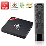 Android 7.1 A95x Pro TV Box,Greatlizard Voice Control 2GB DDR3 16GB EMMC 4K Quad Core Smart TV Box VP9 HEVC Decoding