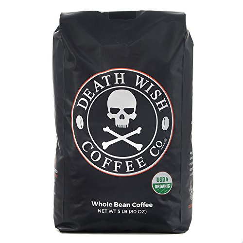 Undoing Wish Whole Bean Coffee, The World's Strongest Coffee, Fair Trade and USDA Certified Organic - 5 Pound Bulk Value-Bag