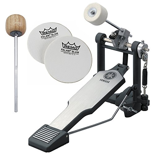 Yamaha FP8500B Lightweight Belt-Drive Single Bass Drum Pedal w/ Bonus Wood Beater and Impact Patches ()