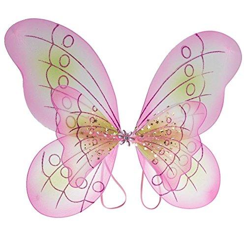 1 X disfraz de mariposa rosa disfrazarse alas