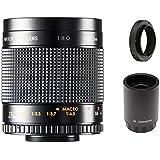 500mm f/8.0 Manual Focus Telephoto Mirror Lens + 2x Teleconverter = 1000mm For Sony Alpha SLT, A33 A35 A37 A55 A57 A58 A65 A77 A99 A99V A850 A900 Digital SLR Cameras