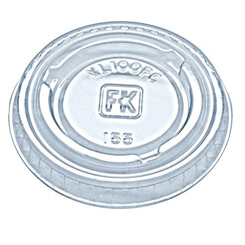 Fabri-Kal XL100PC Clear Plastic 1 Oz. Souffle Lid - 2500 / C